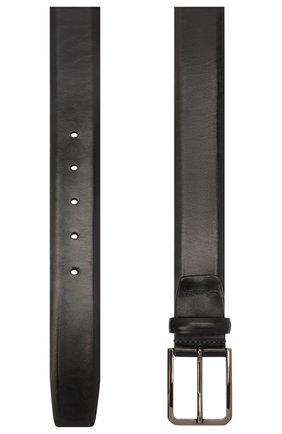 Мужской кожаный ремень SANTONI темно-синего цвета, арт. CM35VS003B91GVVDU59 | Фото 2