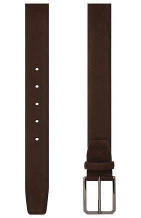 Мужской замшевый ремень SANTONI темно-коричневого цвета, арт. CM35VS003B91GGCKT50 | Фото 2