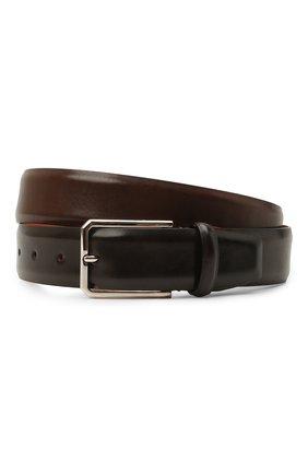Мужской кожаный ремень SANTONI темно-коричневого цвета, арт. CM35VS003B91EVVDT50 | Фото 1