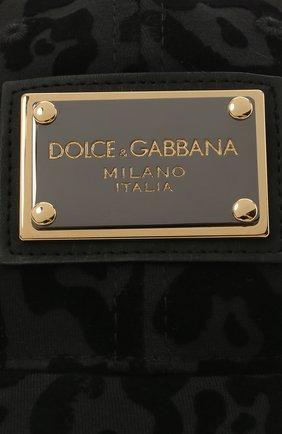 Мужской хлопковая бейсболка DOLCE & GABBANA темно-серого цвета, арт. GH590A/G7YTI   Фото 3