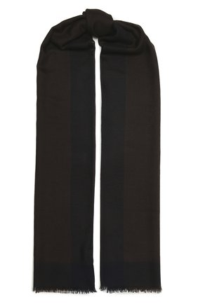 Мужской кашемировый шарф LORO PIANA темно-коричневого цвета, арт. FAL8203 | Фото 1