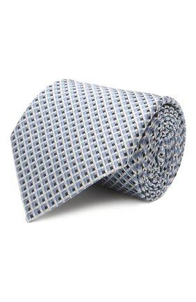 Мужской шелковый галстук ERMENEGILDO ZEGNA голубого цвета, арт. Z2D82T/1UM   Фото 1