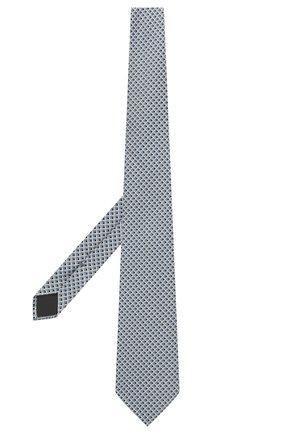 Мужской шелковый галстук ERMENEGILDO ZEGNA голубого цвета, арт. Z2D82T/1UM   Фото 2