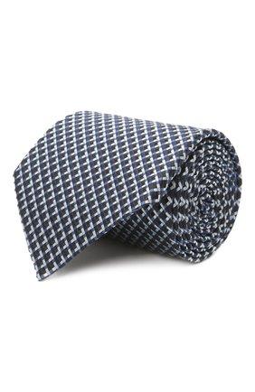 Мужской шелковый галстук ERMENEGILDO ZEGNA синего цвета, арт. Z2D82T/1UM   Фото 1