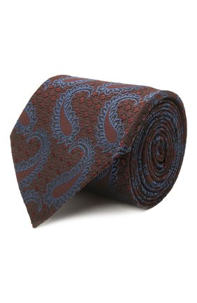 Мужской шелковый галстук ERMENEGILDO ZEGNA коричневого цвета, арт. Z2D35T/1UM   Фото 1