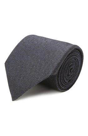 Мужской шелковый галстук ERMENEGILDO ZEGNA темно-синего цвета, арт. Z2D20T/1UM | Фото 1 (Материал: Текстиль, Шелк; Принт: Без принта)