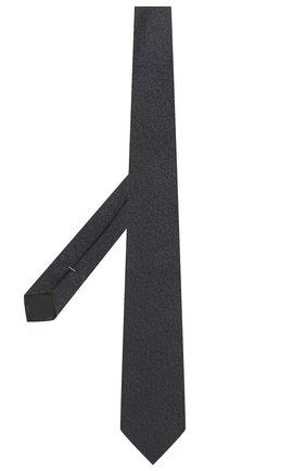 Мужской шелковый галстук ERMENEGILDO ZEGNA темно-синего цвета, арт. Z2D20T/1UM | Фото 2 (Материал: Текстиль, Шелк; Принт: Без принта)