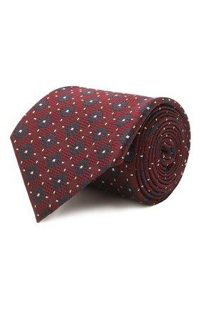 Мужской шелковый галстук ERMENEGILDO ZEGNA бордового цвета, арт. Z2D12T/18B   Фото 1