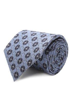 Мужской шелковый галстук ERMENEGILDO ZEGNA голубого цвета, арт. Z2D12T/18B   Фото 1