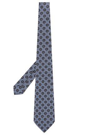 Мужской шелковый галстук ERMENEGILDO ZEGNA голубого цвета, арт. Z2D12T/18B   Фото 2