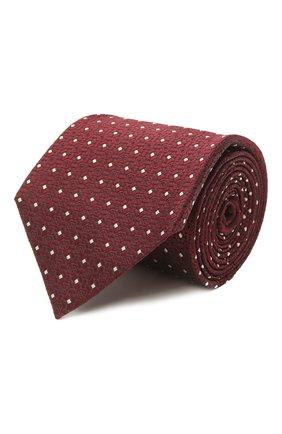 Мужской шелковый галстук ERMENEGILDO ZEGNA бордового цвета, арт. Z2D10T/18B   Фото 1
