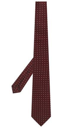 Мужской шелковый галстук ERMENEGILDO ZEGNA бордового цвета, арт. Z2D10T/18B   Фото 2