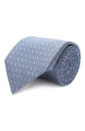 Мужской шелковый галстук ERMENEGILDO ZEGNA голубого цвета, арт. Z2D10T/18B   Фото 1