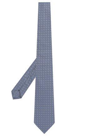 Мужской шелковый галстук ERMENEGILDO ZEGNA голубого цвета, арт. Z2D10T/18B   Фото 2