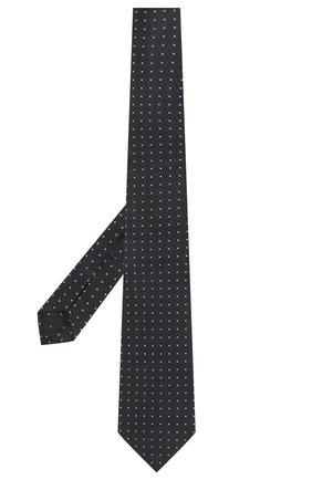Мужской шелковый галстук ERMENEGILDO ZEGNA темно-синего цвета, арт. Z2D10T/18B | Фото 2 (Материал: Текстиль; Принт: С принтом)