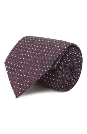 Мужской шелковый галстук ERMENEGILDO ZEGNA темно-коричневого цвета, арт. Z2D03T/1UM | Фото 1 (Материал: Текстиль; Принт: С принтом)