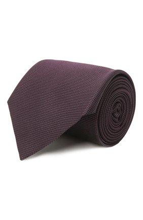 Мужской шелковый галстук ERMENEGILDO ZEGNA темно-бордового цвета, арт. Z2D00T/1UM | Фото 1