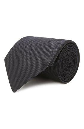 Мужской шелковый галстук ERMENEGILDO ZEGNA темно-синего цвета, арт. Z2D00T/1UM   Фото 1