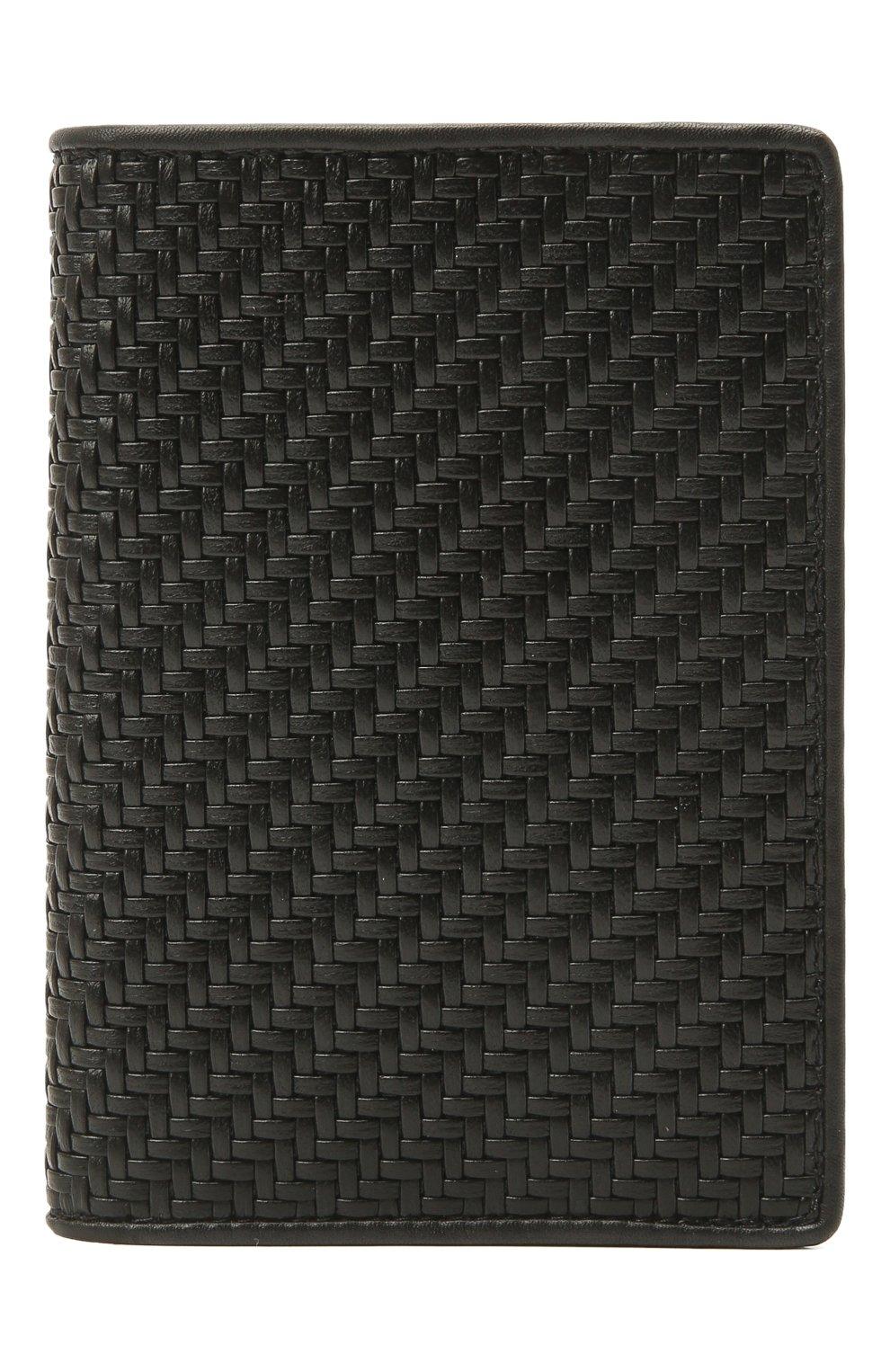 Мужской кожаная обложка для паспорта ERMENEGILDO ZEGNA черного цвета, арт. E1448P-LHPTA | Фото 1 (Кросс-КТ: обложки и футляры)