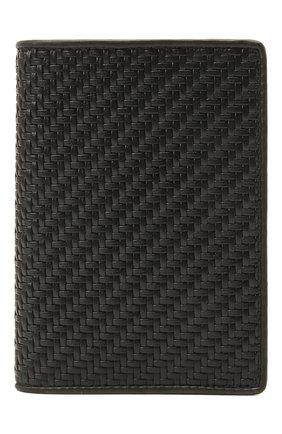 Мужской кожаная обложка для паспорта ERMENEGILDO ZEGNA черного цвета, арт. E1448P-LHPTA | Фото 1