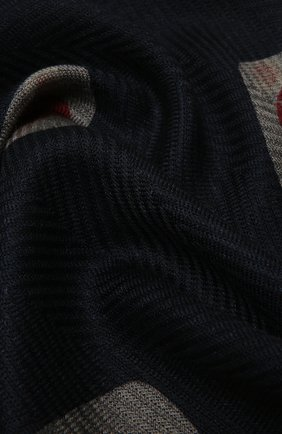 Мужской шерстяной шарф GIORGIO ARMANI темно-синего цвета, арт. 745007/1A107 | Фото 2