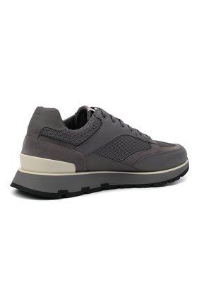 Мужские комбинированные кроссовки BOSS серого цвета, арт. 50452595 | Фото 4