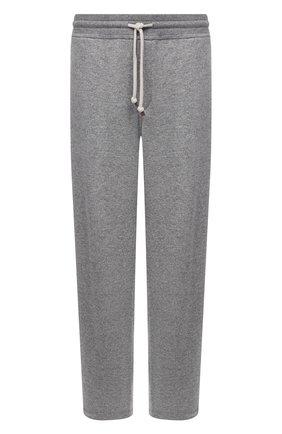 Мужские кашемировые брюки BRUNELLO CUCINELLI серого цвета, арт. MTU063243W | Фото 1