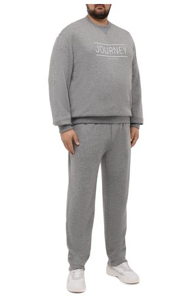 Мужские кашемировые брюки BRUNELLO CUCINELLI серого цвета, арт. MTU063243W | Фото 2