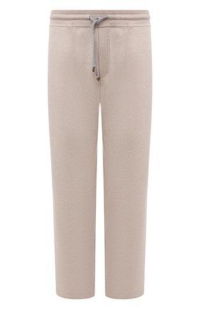 Мужские кашемировые брюки BRUNELLO CUCINELLI светло-бежевого цвета, арт. MTU063243W | Фото 1