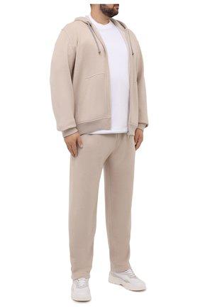 Мужские кашемировые брюки BRUNELLO CUCINELLI светло-бежевого цвета, арт. MTU063243W | Фото 2