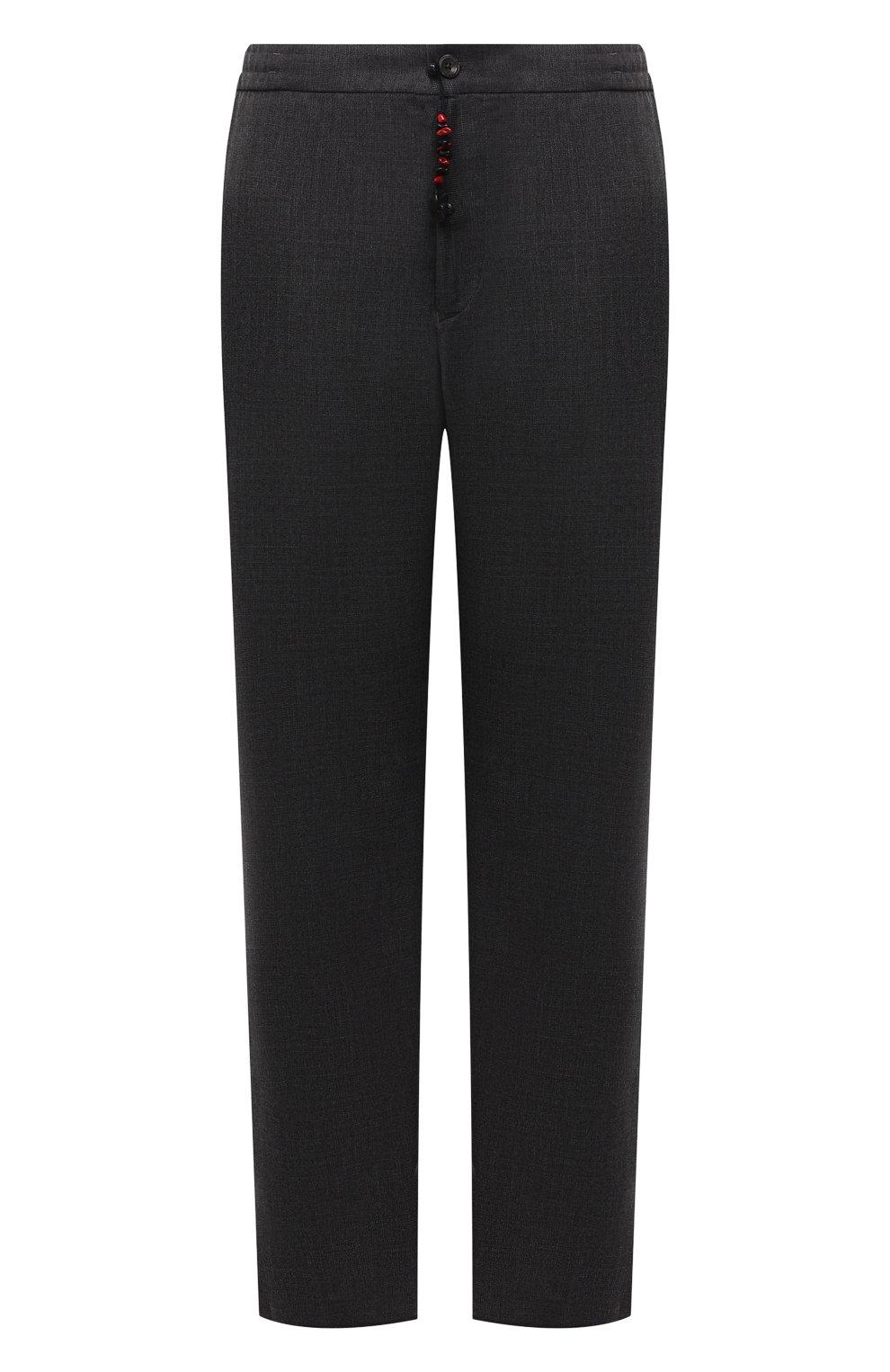 Мужские шерстяные брюки MARCO PESCAROLO темно-серого цвета, арт. CHIAIAM/ZIP+SFILA/4414   Фото 1 (Big sizes: Big Sizes; Материал внешний: Шерсть; Длина (брюки, джинсы): Стандартные; Случай: Повседневный; Стили: Кэжуэл)