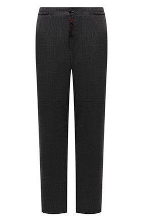 Мужские шерстяные брюки MARCO PESCAROLO темно-серого цвета, арт. CHIAIAM/ZIP+SFILA/4414 | Фото 1 (Материал внешний: Шерсть; Длина (брюки, джинсы): Стандартные; Случай: Повседневный; Стили: Кэжуэл; Big sizes: Big Sizes)