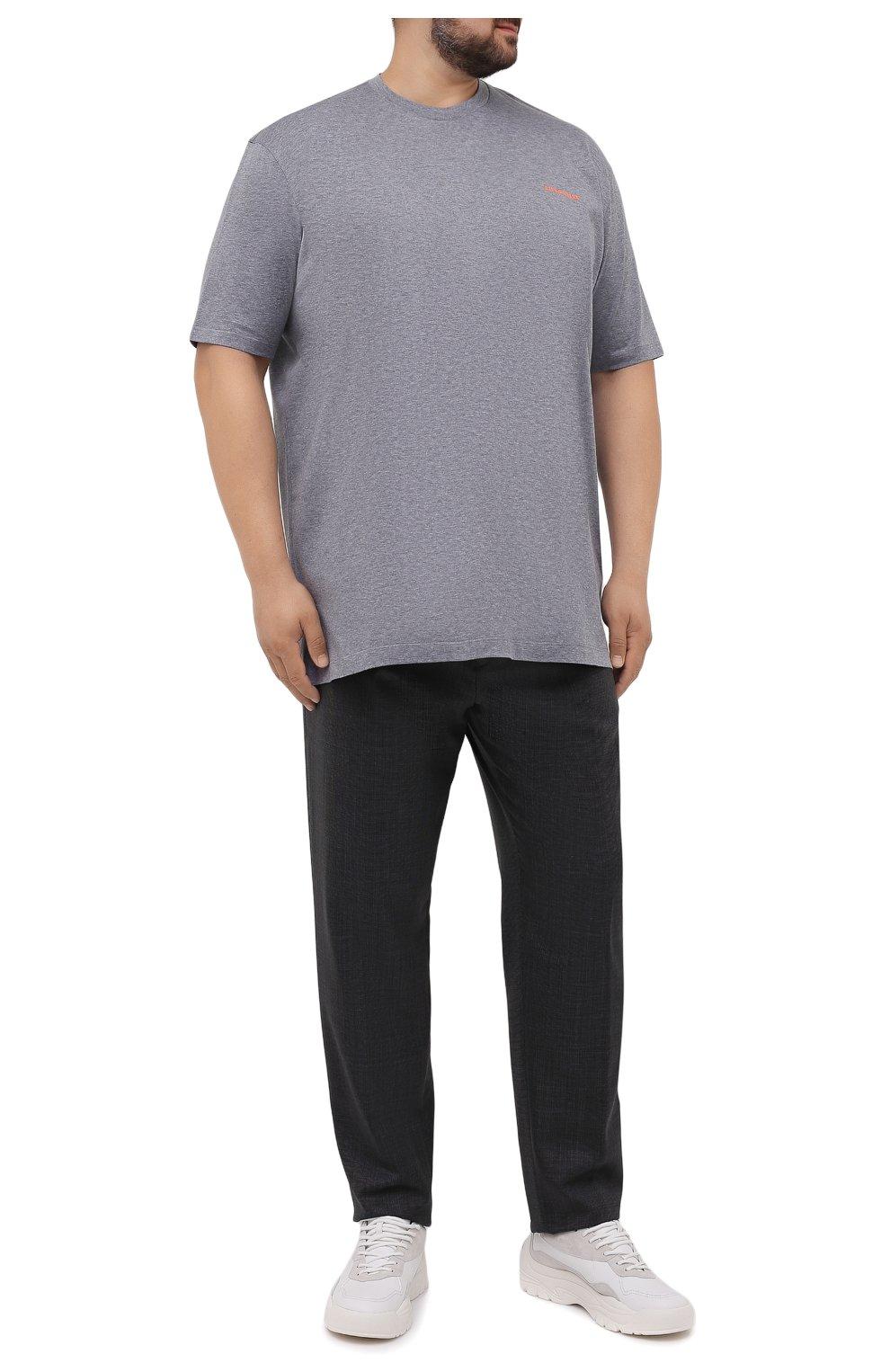 Мужские шерстяные брюки MARCO PESCAROLO темно-серого цвета, арт. CHIAIAM/ZIP+SFILA/4414   Фото 2 (Big sizes: Big Sizes; Материал внешний: Шерсть; Длина (брюки, джинсы): Стандартные; Случай: Повседневный; Стили: Кэжуэл)