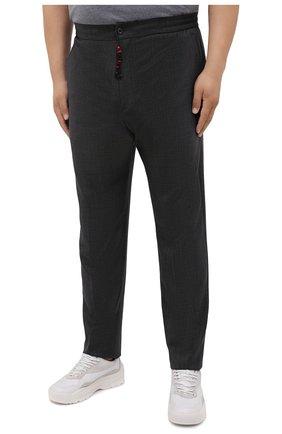 Мужские шерстяные брюки MARCO PESCAROLO темно-серого цвета, арт. CHIAIAM/ZIP+SFILA/4414   Фото 3 (Big sizes: Big Sizes; Материал внешний: Шерсть; Длина (брюки, джинсы): Стандартные; Случай: Повседневный; Стили: Кэжуэл)