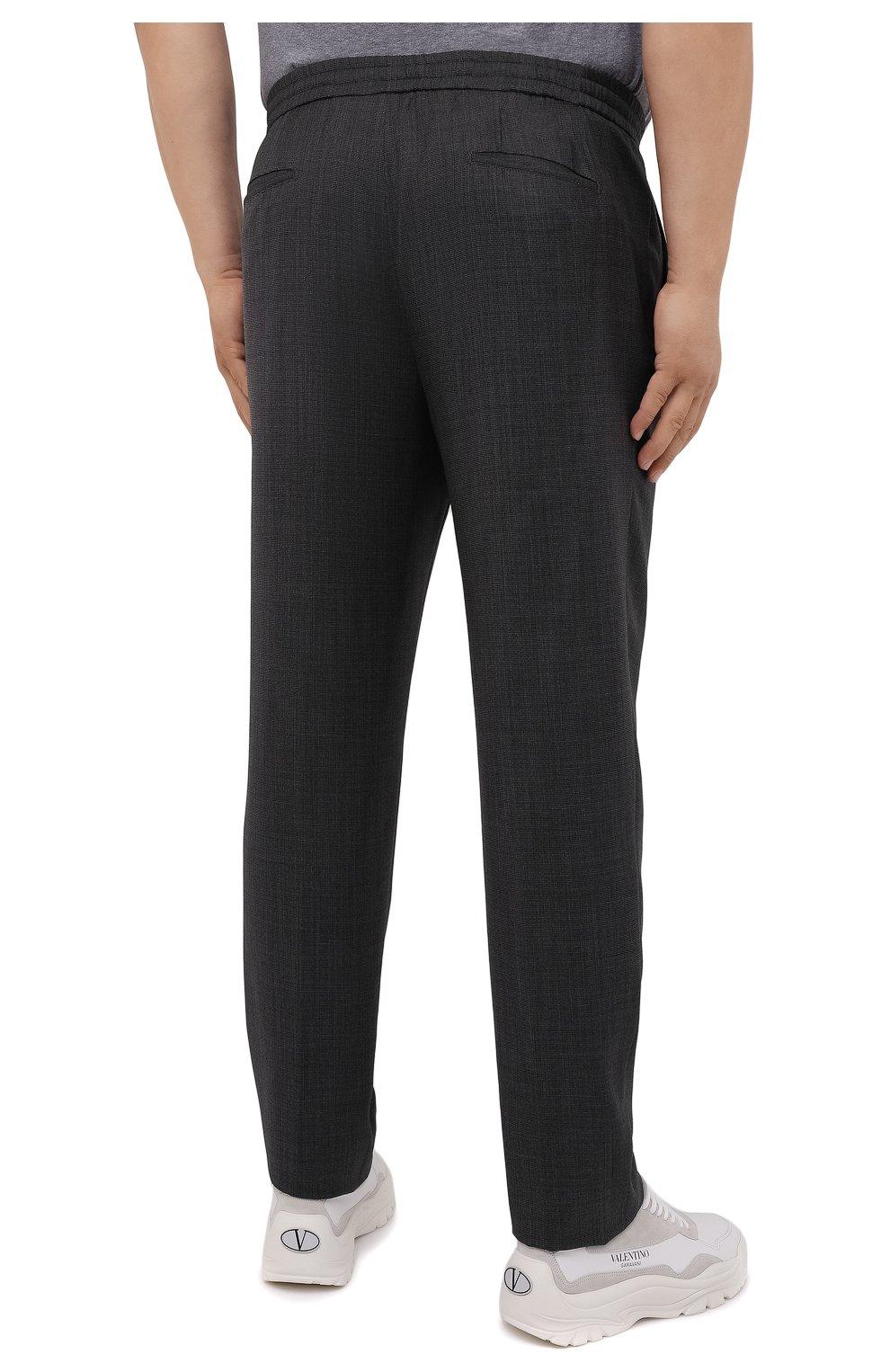 Мужские шерстяные брюки MARCO PESCAROLO темно-серого цвета, арт. CHIAIAM/ZIP+SFILA/4414   Фото 4 (Big sizes: Big Sizes; Материал внешний: Шерсть; Длина (брюки, джинсы): Стандартные; Случай: Повседневный; Стили: Кэжуэл)