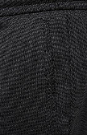 Мужские шерстяные брюки MARCO PESCAROLO темно-серого цвета, арт. CHIAIAM/ZIP+SFILA/4414   Фото 5 (Big sizes: Big Sizes; Материал внешний: Шерсть; Длина (брюки, джинсы): Стандартные; Случай: Повседневный; Стили: Кэжуэл)