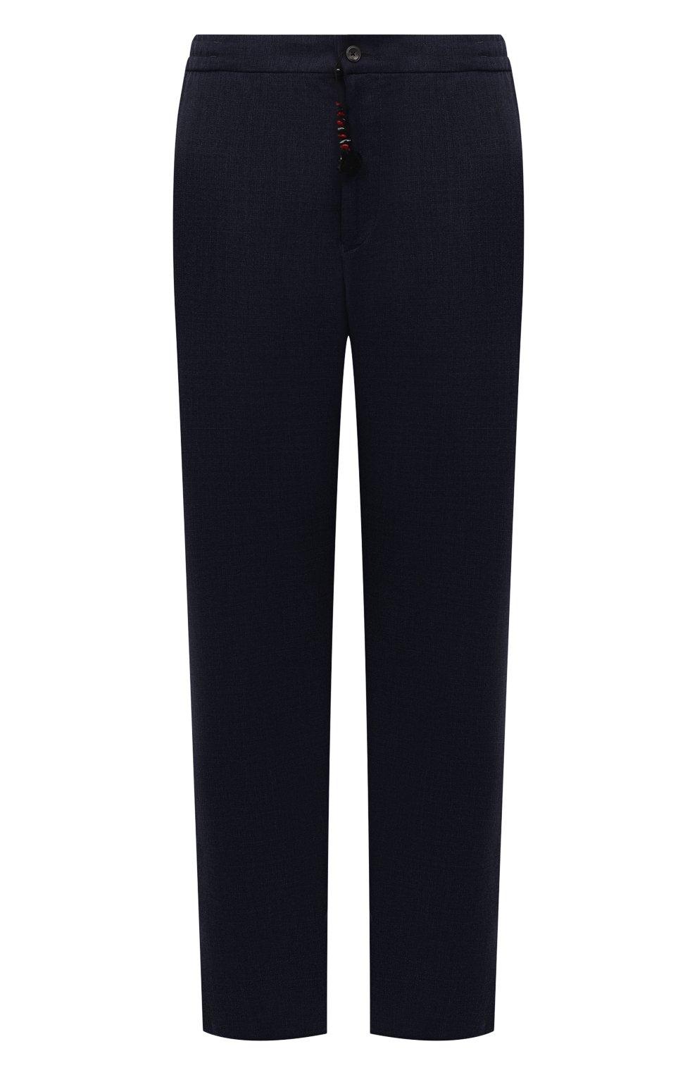 Мужские шерстяные брюки MARCO PESCAROLO темно-синего цвета, арт. CHIAIAM/ZIP+SFILA/4414 | Фото 1 (Big sizes: Big Sizes; Материал внешний: Шерсть; Длина (брюки, джинсы): Стандартные; Случай: Повседневный; Стили: Кэжуэл)