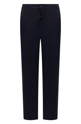 Мужские шерстяные брюки MARCO PESCAROLO темно-синего цвета, арт. CHIAIAM/ZIP+SFILA/4414 | Фото 1 (Материал внешний: Шерсть; Длина (брюки, джинсы): Стандартные; Случай: Повседневный; Стили: Кэжуэл; Big sizes: Big Sizes)