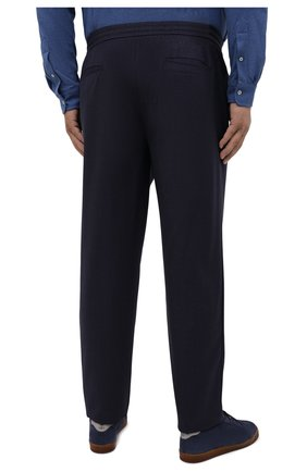 Мужские шерстяные брюки MARCO PESCAROLO темно-синего цвета, арт. CHIAIAM/ZIP+SFILA/4414 | Фото 4 (Big sizes: Big Sizes; Материал внешний: Шерсть; Длина (брюки, джинсы): Стандартные; Случай: Повседневный; Стили: Кэжуэл)