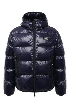 Мужская пуховая куртка DSQUARED2 темно-синего цвета, арт. S74AM1201/S54056 | Фото 1