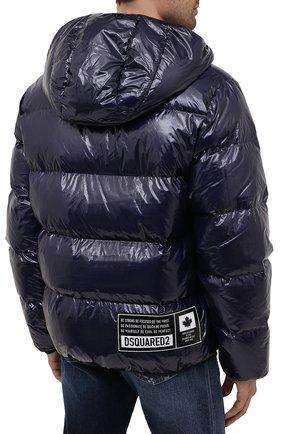 Мужская пуховая куртка DSQUARED2 темно-синего цвета, арт. S74AM1201/S54056   Фото 4 (Кросс-КТ: Куртка; Мужское Кросс-КТ: пуховик-короткий; Рукава: Длинные; Материал внешний: Синтетический материал; Стили: Гранж; Материал подклада: Синтетический материал; Длина (верхняя одежда): Короткие; Материал утеплителя: Пух и перо)