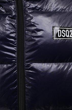 Мужская пуховая куртка DSQUARED2 темно-синего цвета, арт. S74AM1201/S54056   Фото 5 (Кросс-КТ: Куртка; Мужское Кросс-КТ: пуховик-короткий; Рукава: Длинные; Материал внешний: Синтетический материал; Стили: Гранж; Материал подклада: Синтетический материал; Длина (верхняя одежда): Короткие; Материал утеплителя: Пух и перо)