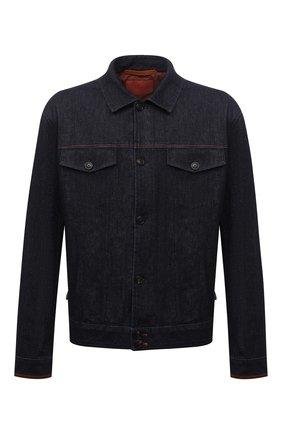 Мужская джинсовая куртка CORTIGIANI темно-синего цвета, арт. 218500/0000/4950/60-70 | Фото 1