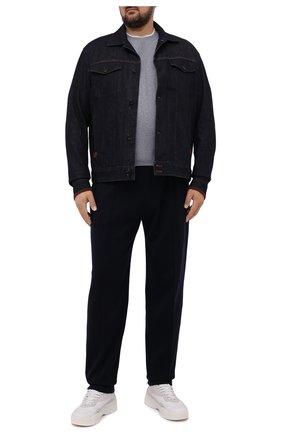 Мужская джинсовая куртка CORTIGIANI темно-синего цвета, арт. 218500/0000/4950/60-70 | Фото 2