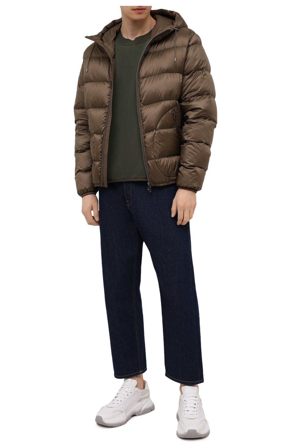 Мужская пуховая куртка RALPH LAUREN коричневого цвета, арт. 790774258 | Фото 2 (Кросс-КТ: Куртка; Мужское Кросс-КТ: пуховик-короткий; Рукава: Длинные; Материал внешний: Синтетический материал; Материал подклада: Синтетический материал; Длина (верхняя одежда): Короткие; Материал утеплителя: Пух и перо; Стили: Кэжуэл)