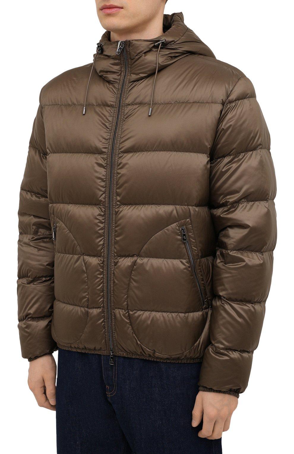 Мужская пуховая куртка RALPH LAUREN коричневого цвета, арт. 790774258 | Фото 3 (Кросс-КТ: Куртка; Мужское Кросс-КТ: пуховик-короткий; Рукава: Длинные; Материал внешний: Синтетический материал; Материал подклада: Синтетический материал; Длина (верхняя одежда): Короткие; Материал утеплителя: Пух и перо; Стили: Кэжуэл)