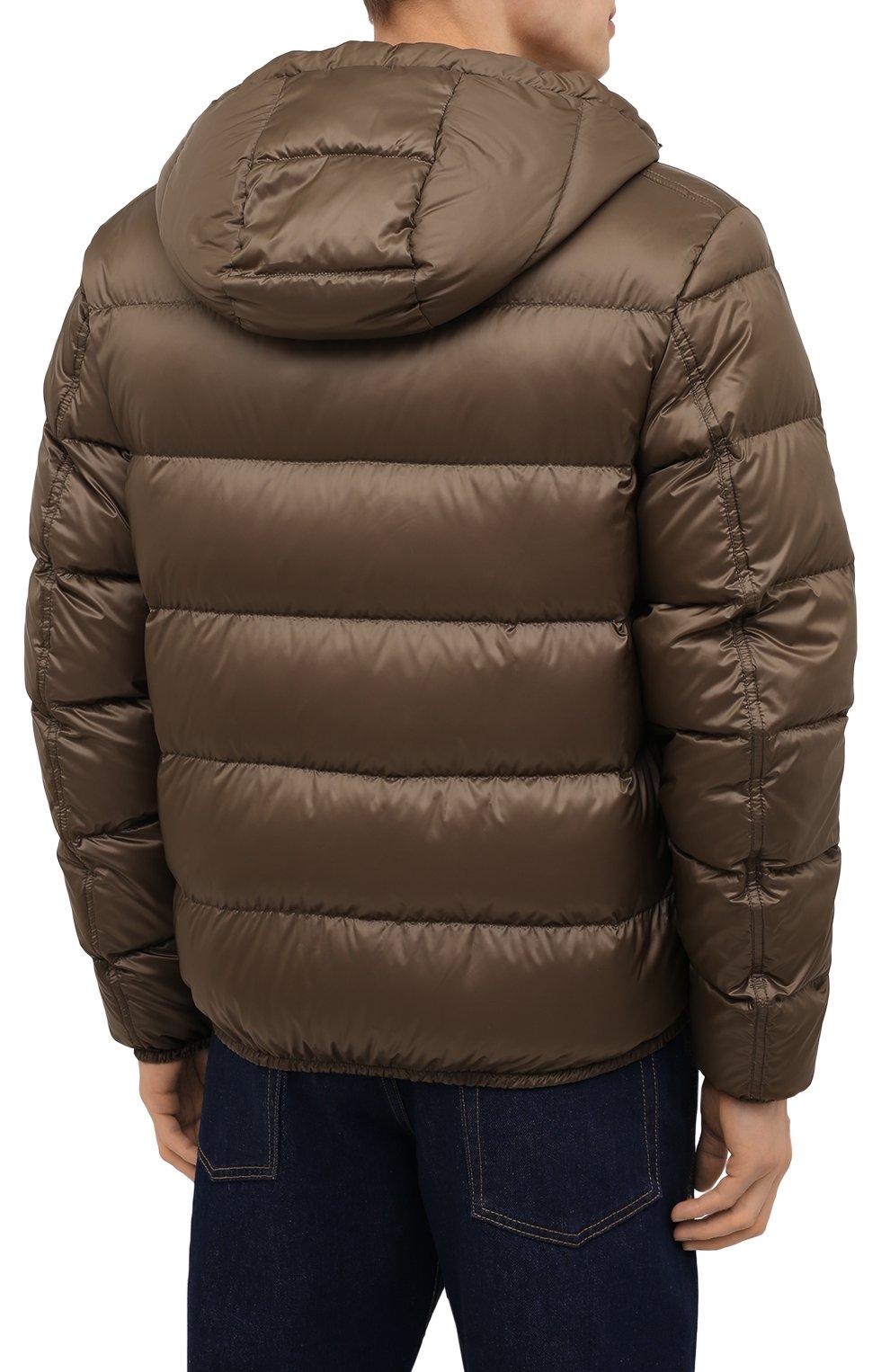 Мужская пуховая куртка RALPH LAUREN коричневого цвета, арт. 790774258 | Фото 4 (Кросс-КТ: Куртка; Мужское Кросс-КТ: пуховик-короткий; Рукава: Длинные; Материал внешний: Синтетический материал; Материал подклада: Синтетический материал; Длина (верхняя одежда): Короткие; Материал утеплителя: Пух и перо; Стили: Кэжуэл)