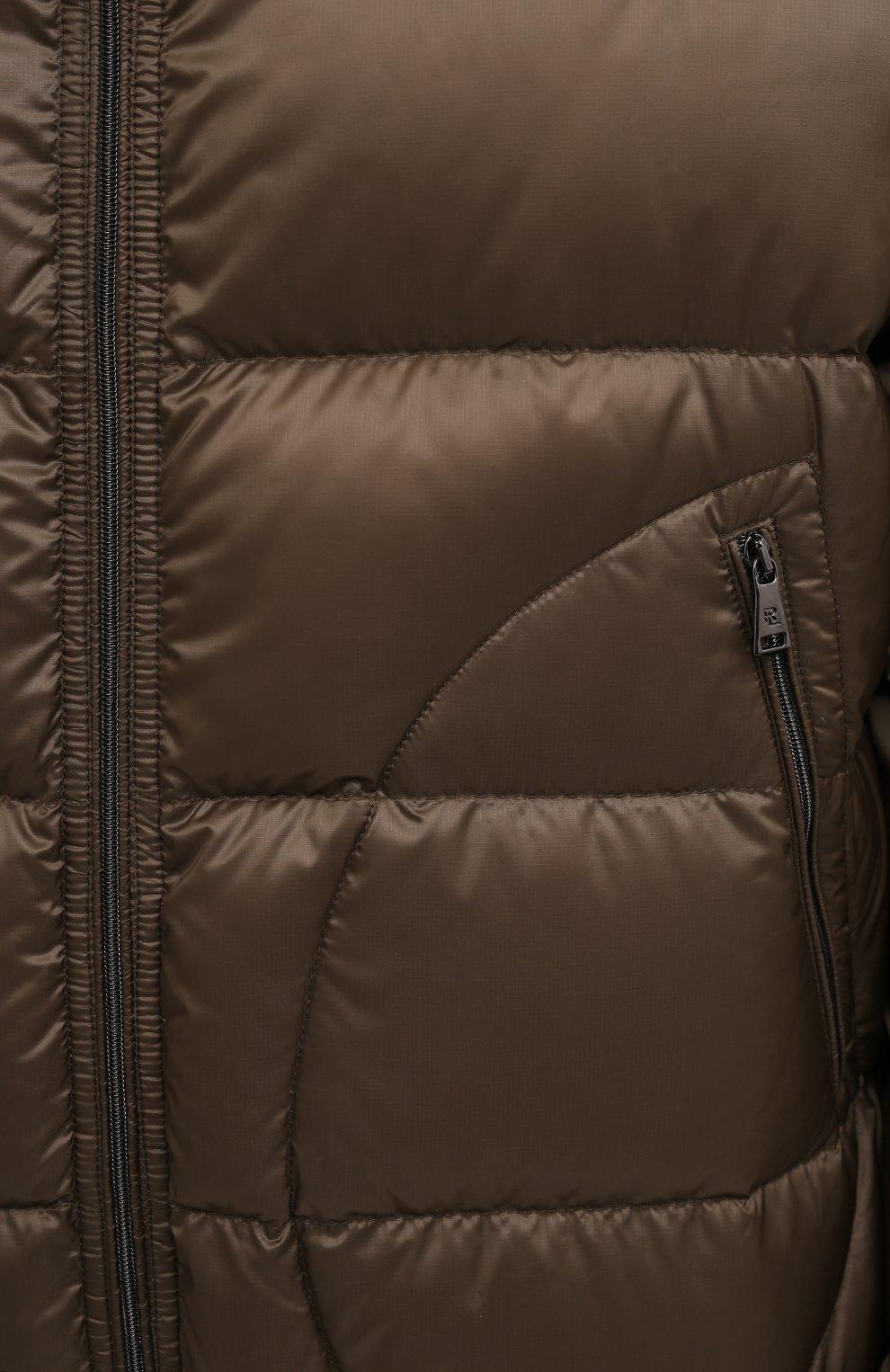 Мужская пуховая куртка RALPH LAUREN коричневого цвета, арт. 790774258 | Фото 5 (Кросс-КТ: Куртка; Мужское Кросс-КТ: пуховик-короткий; Рукава: Длинные; Материал внешний: Синтетический материал; Материал подклада: Синтетический материал; Длина (верхняя одежда): Короткие; Материал утеплителя: Пух и перо; Стили: Кэжуэл)