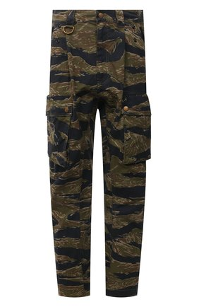 Мужские хлопковые брюки-карго DIESEL хаки цвета, арт. A02699/0PBAX | Фото 1
