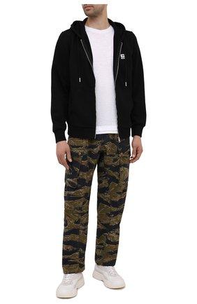 Мужские хлопковые брюки-карго DIESEL хаки цвета, арт. A02699/0PBAX | Фото 2